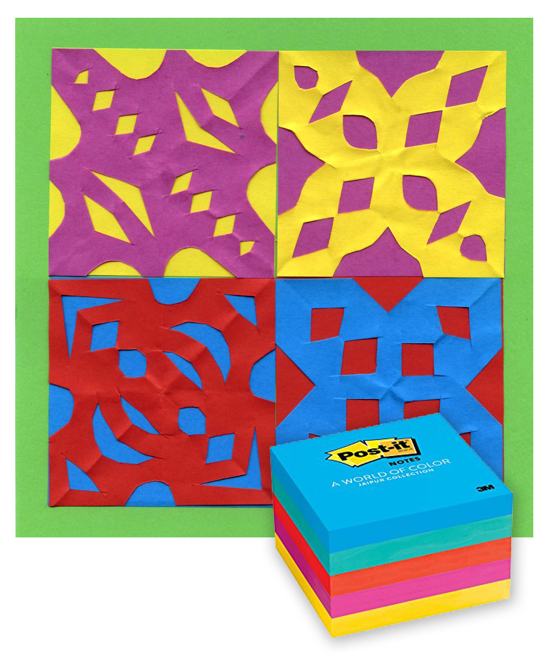 Papel Picado Holiday Card · Art Projects for Kids