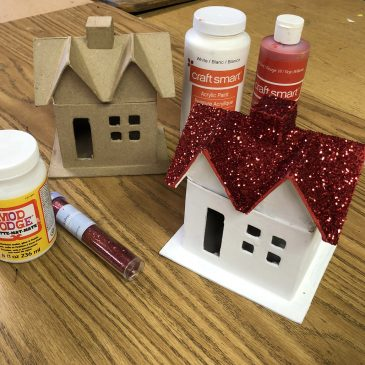 Paper Mache Holiday House