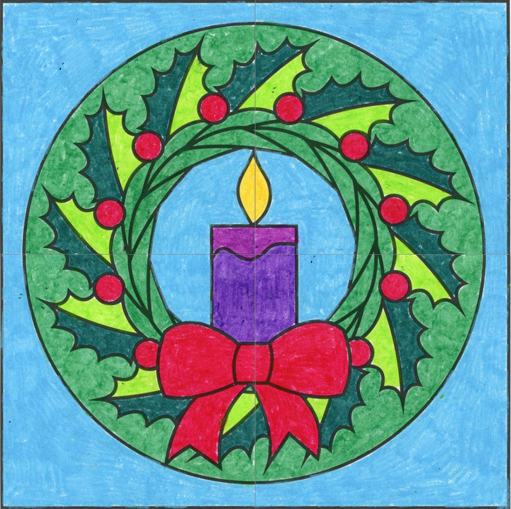 Christmas Wreath Mural