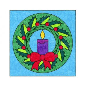 christmas wreath coloring