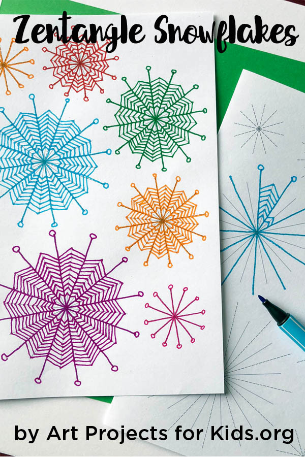 zentangle patterns for beginners · art projects for kids