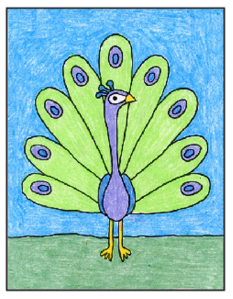 Draw A Peacock Art Projects For Kids