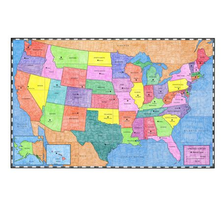 Usa Map Art Projects For Kids