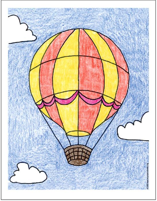 air balloon drawing