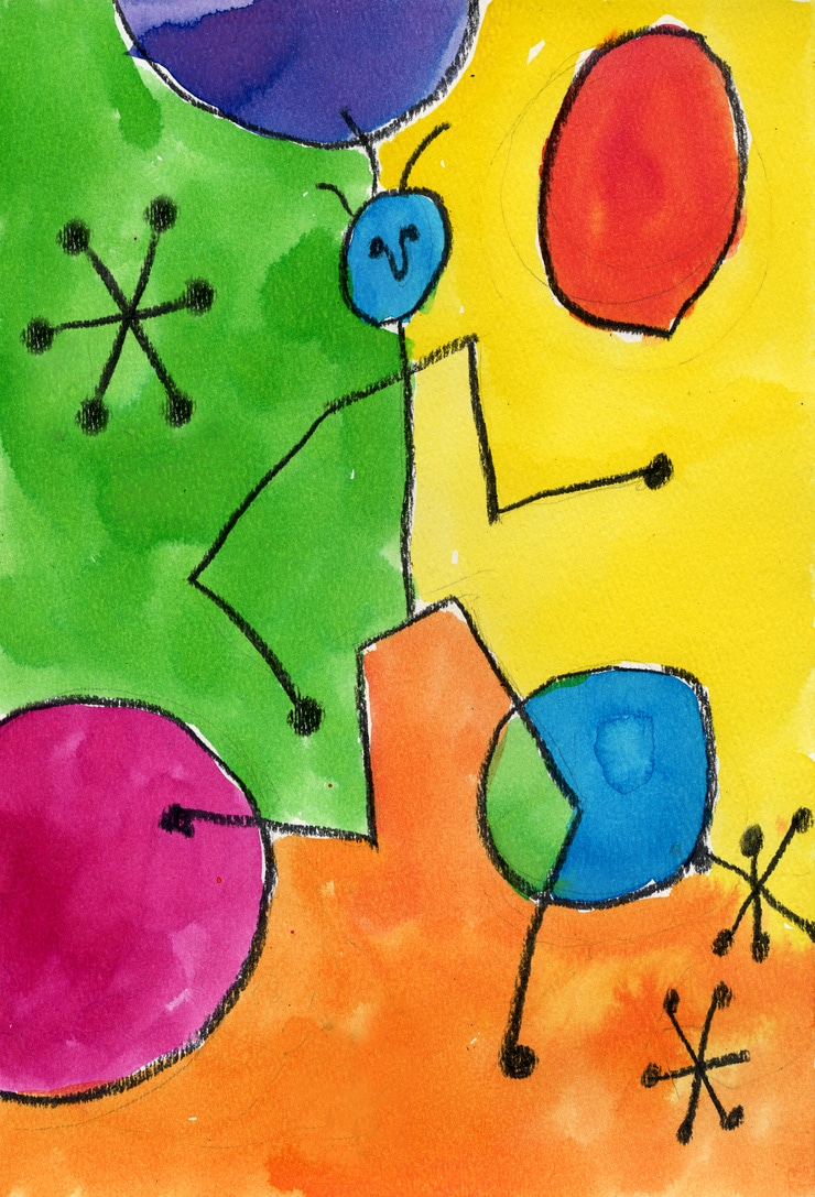 Miro Watercolor Painting Art Projects For Kids