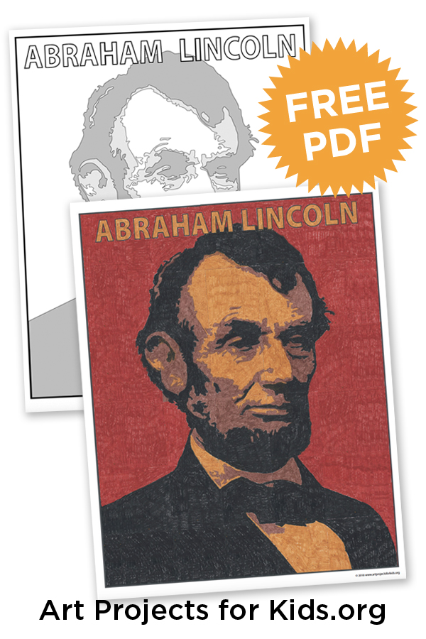 Abraham Lincoln Coloring Page · Art Projects for Kids