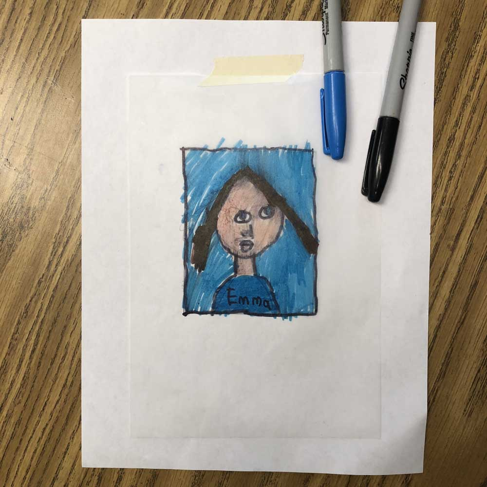 Class art project for fundraising art projects for kids for Drawing on wax paper