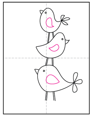 Draw Simple Birds Art Projects For Kids