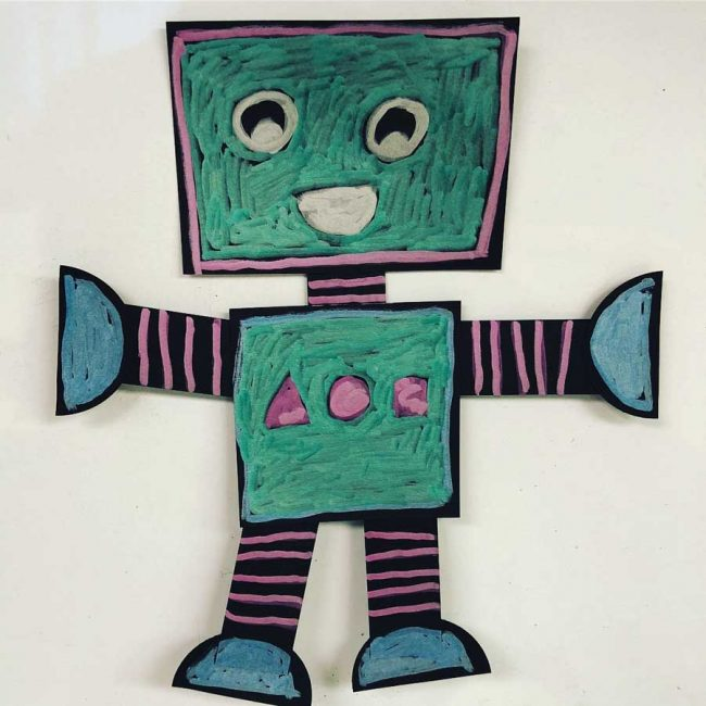 Easy Paper Robots Art Projects For Kids