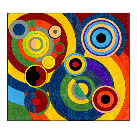 Robert Delaunay Mural 183 Art Projects For Kids
