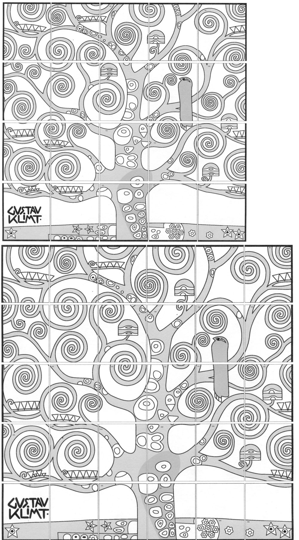 graphic relating to Tree of Life Printable referred to as Gustav Klimt Tree of Lifestyle