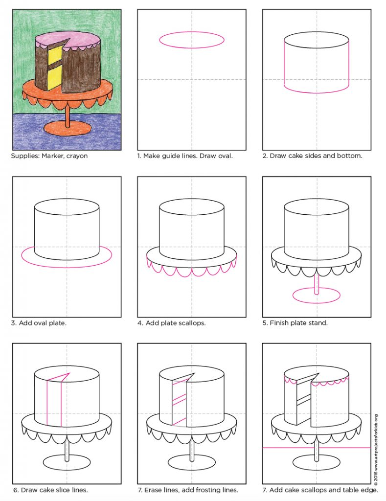 How to Draw a Cake · Art Projects for Kids