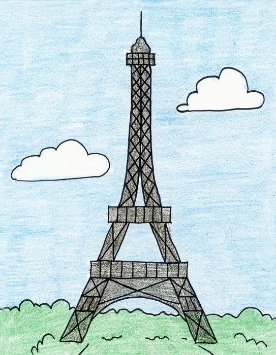 How to draw the eiffel tower art projects for kids altavistaventures Choice Image