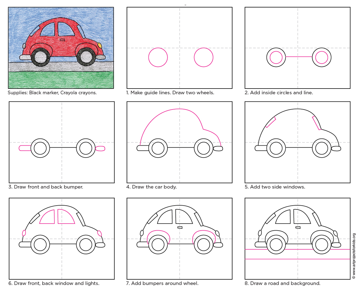 How To Draw A Car Easy For Kids How To Draw A Simple Car How To