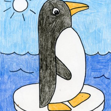 penguin drawing easy