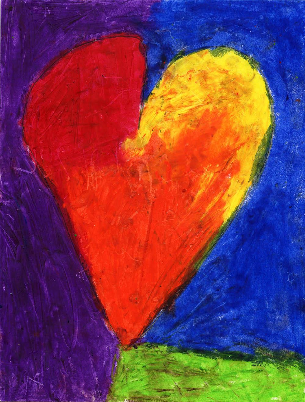 Oil Pastel Heart Art Projects For Kids