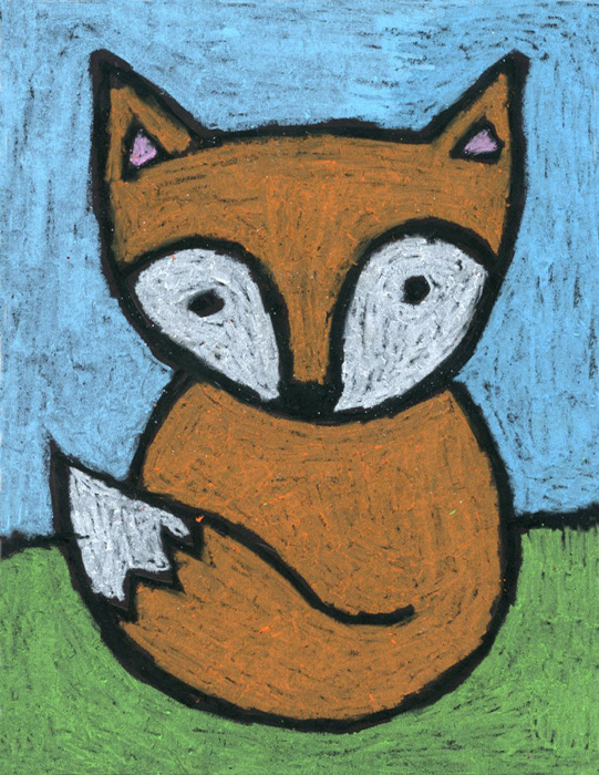 cute fox drawing 183 art projects for kids