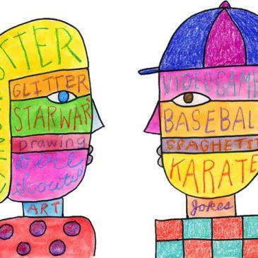 self portraits children's art