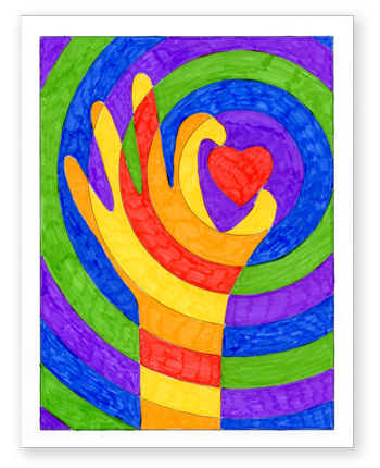 Warm Hands with a Heart Art Projects