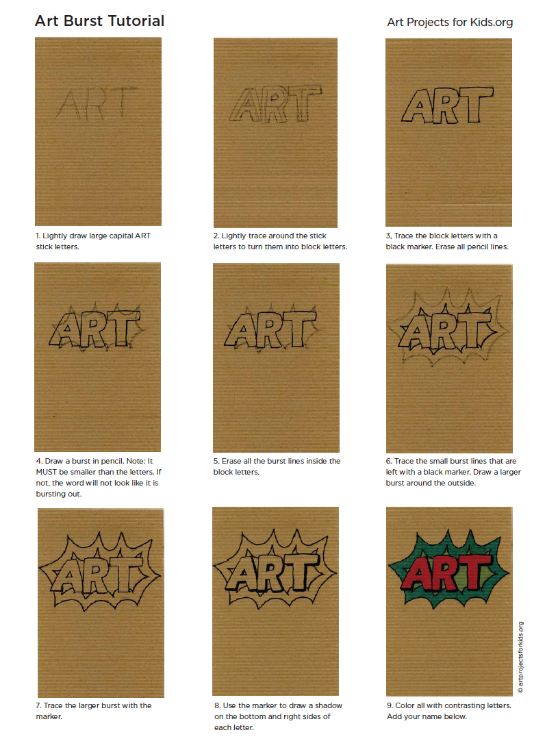 How to Draw Cartoon Letters · Art Projects for Kids