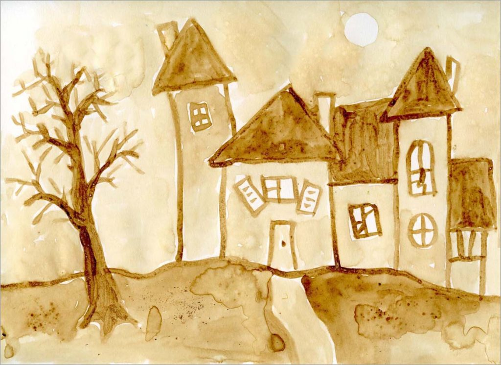 haunted house art project for kids