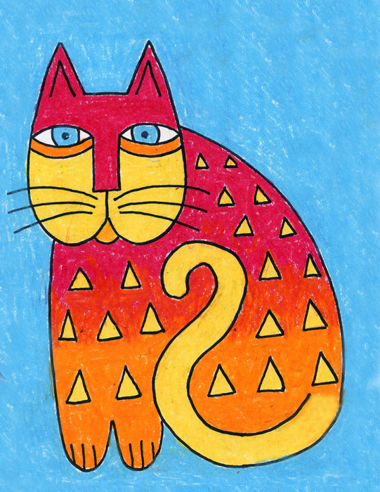 Laurel Burch Cat Drawing Art Projects For Kids