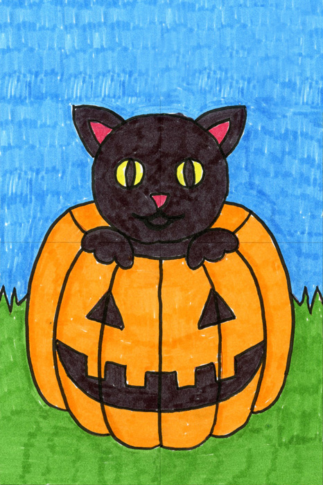 Out Of Halloween Drawing Ideas Art Projects For Kids