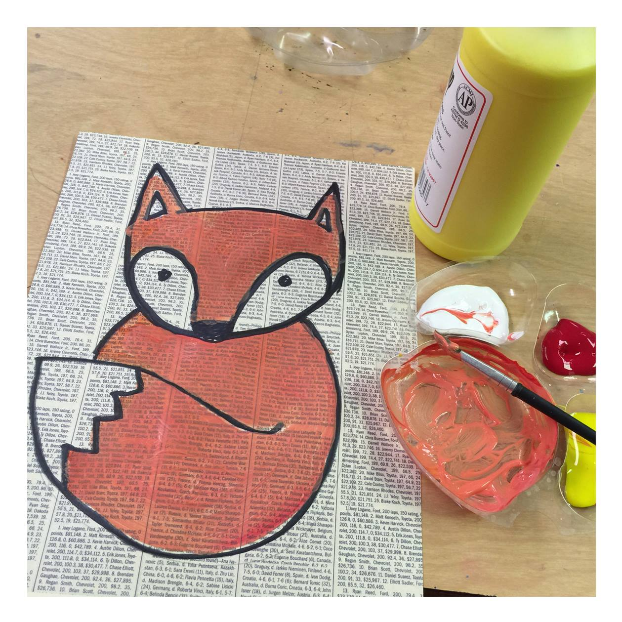 Easy Fox Painting Art Projects For Kids