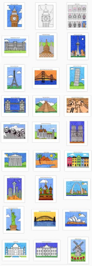 How to draw famous landmarks