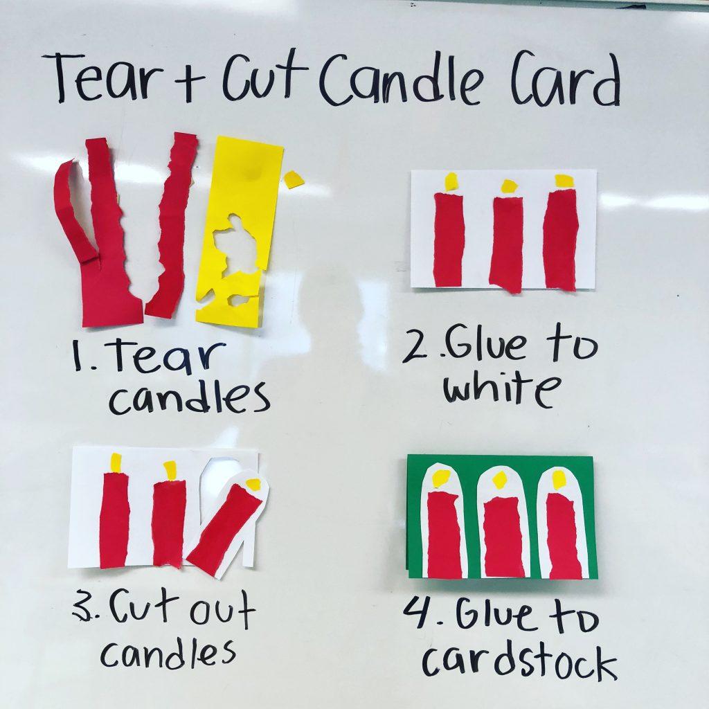 easy Christmas card idea