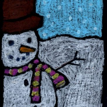 Snowman drawing for kids