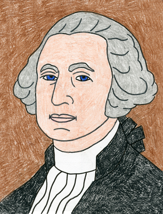 How To Draw George Washington Step By Step Art Projects For Kids