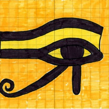 How to draw an Egyptian eye