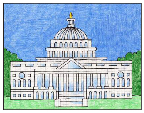 Draw The Us Capitol Art Projects For Kids