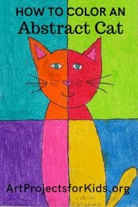 Easy Abstract Art Cat 183 Art Projects For Kids