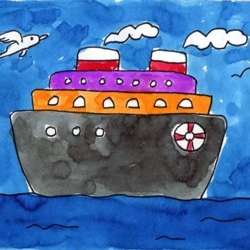 draw a cruise ship