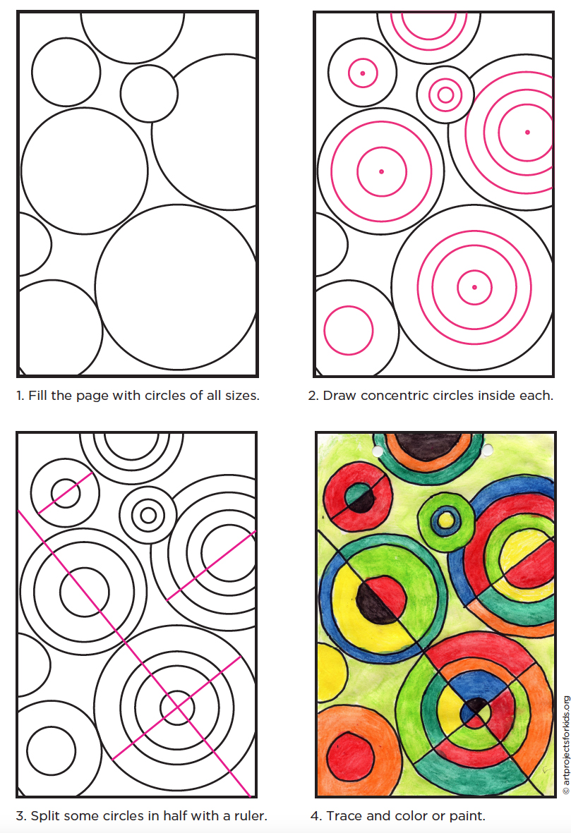 Delaunay Circle Project Art Projects For Kids