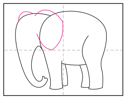 How To Draw An Elephant Art Projects For Kids