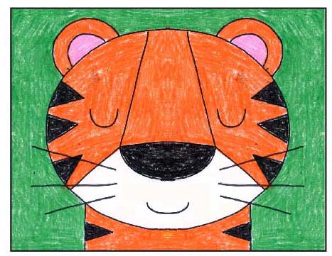 Draw A Tiger Face Art Projects For Kids