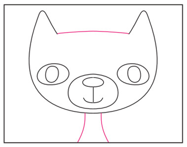 Draw A Cartoon Cat Face Art Projects For Kids