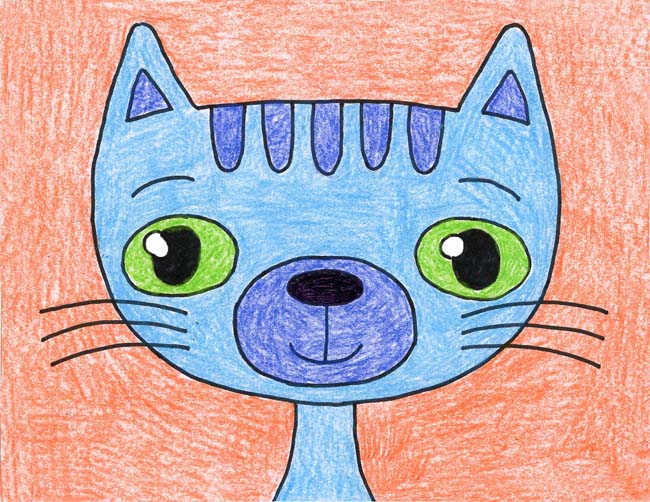 Cat, Cartoon · Art Projects for Kids