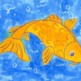 how to paint a koi fish