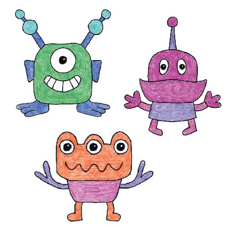 How to Draw Aliens · Art Projects for Kids