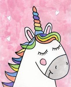 unicorn drawing easy