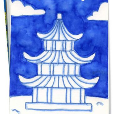 easy pagoda drawing