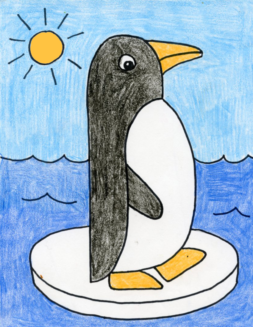 Draw an Easy Penguin · Art Projects for Kids