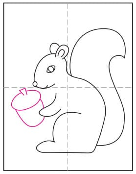 How to Draw a Squirrel · Art Projects for Kids