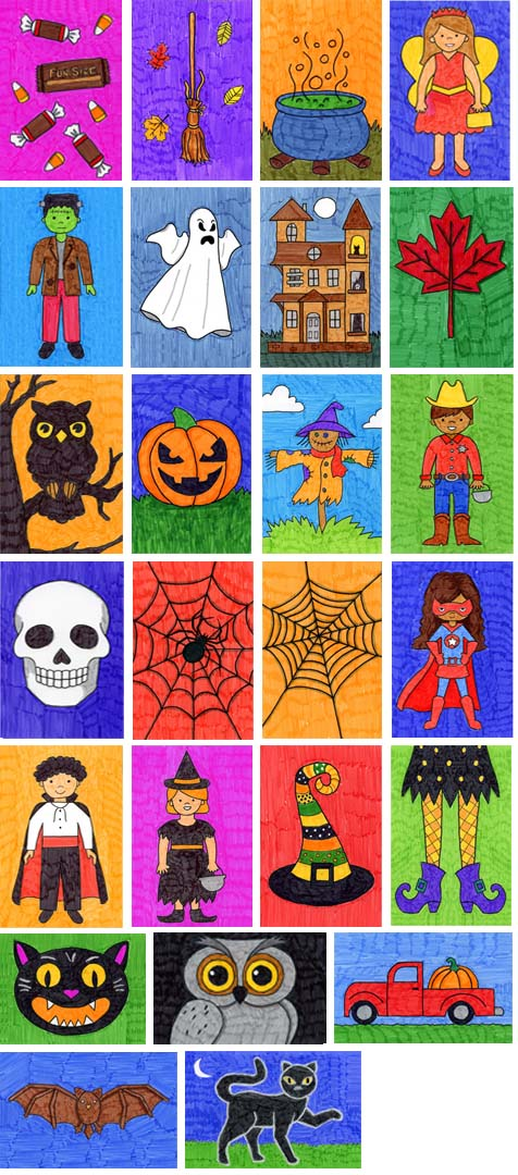 how to draw Halloween stuff