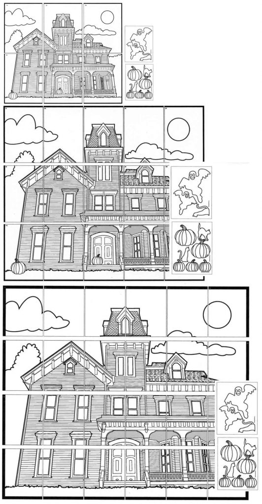 make a haunted house mural