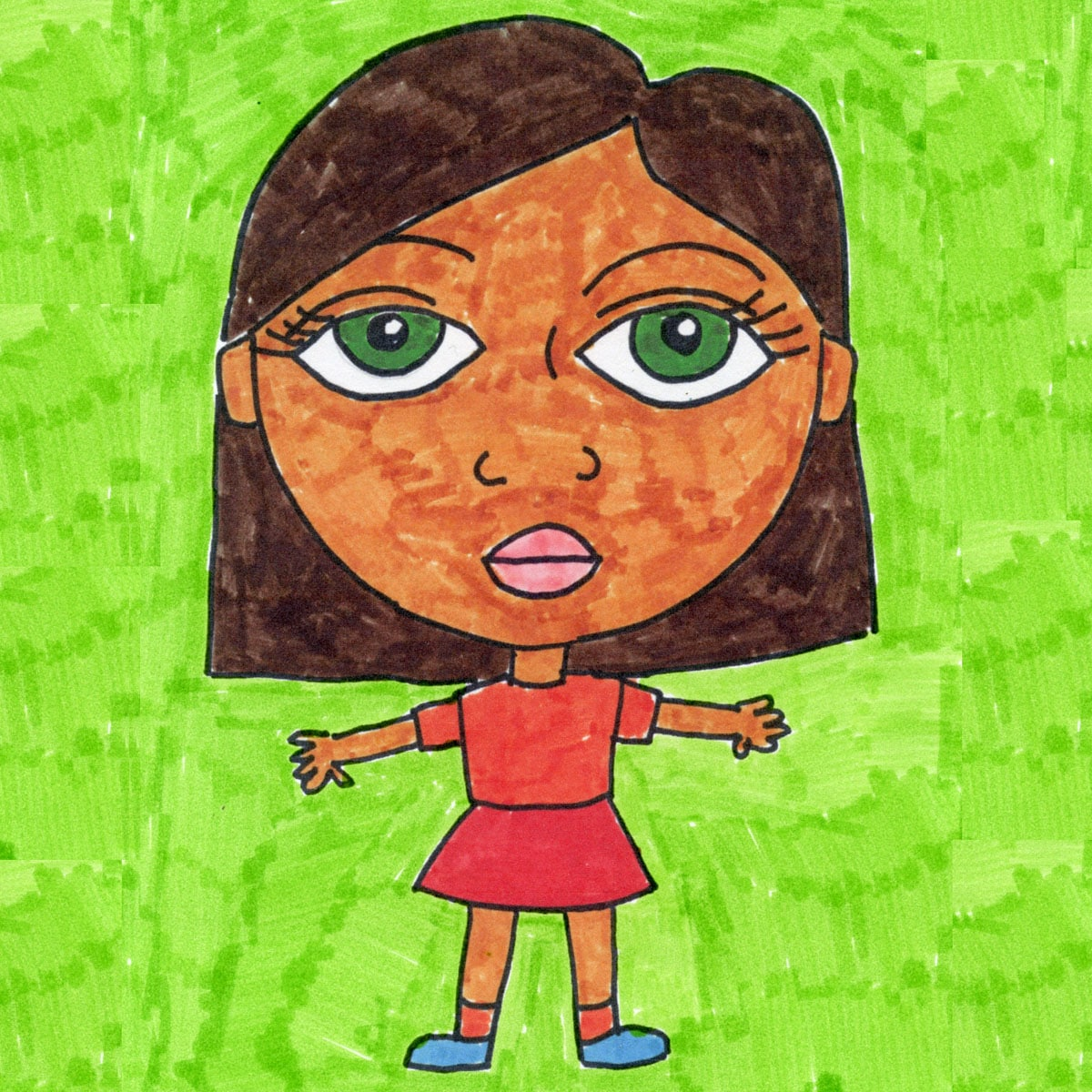 How To Draw A Girl Art Projects For Kids